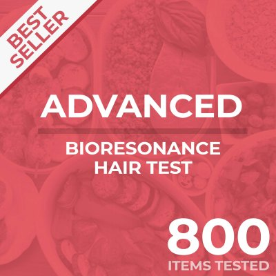 Bioresonance hair test, Advanced, tests your food sensitivity against 800 different items