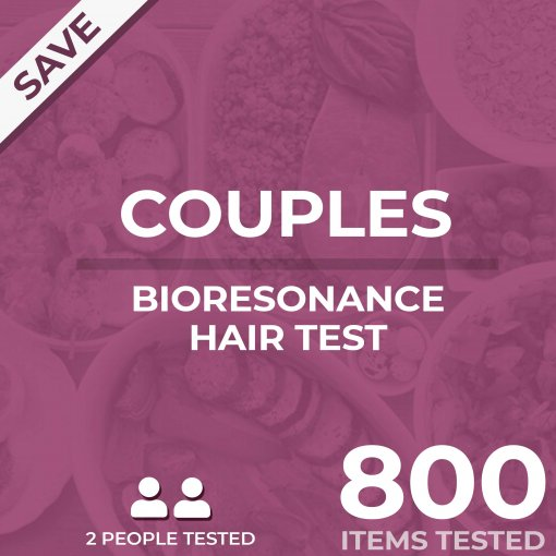 Bioresonance hair test, couples test, tests your food sensitivity against 800 different items