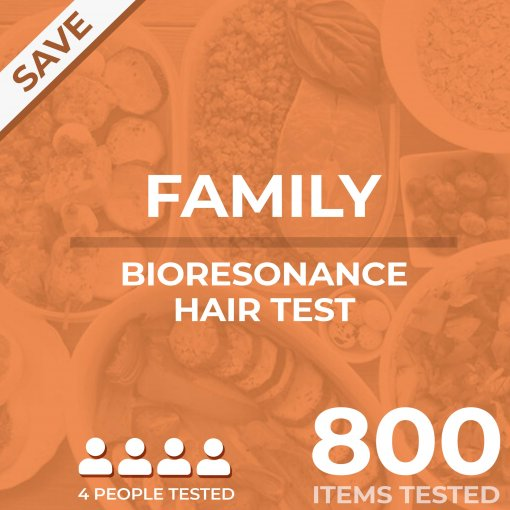 Bioresonance hair test, Family pack, tests your food sensitivity against 800 different items
