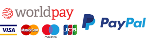Payments by Worldpay Visa, Mastercard, Maestro, JCB and PayPal