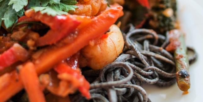 Prawn and Rocket Spaghetti