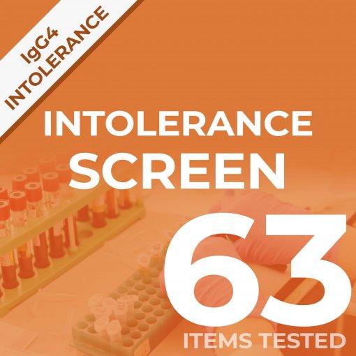 Intolerance screen test