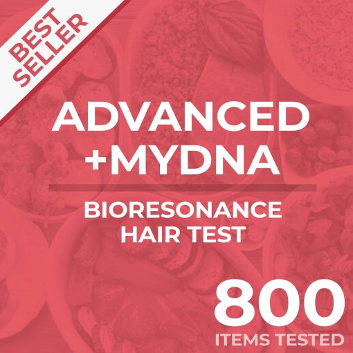 Bioresonance hair and DNA test bundle, tests your sample against 800 items PLUS DNA test