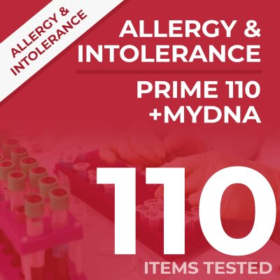 Allergy and Intolerance test bundle, tests your sample against 110 items PLUS DNA test